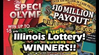 getlinkyoutube.com-WINNING!!! Illinois Lottery Scratchers!!!
