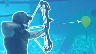 Underwater Archery - Slow Motion