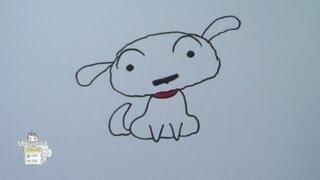 getlinkyoutube.com-How to draw Shiro from Crayon Shin Chan シロ