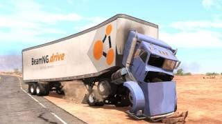 getlinkyoutube.com-BeamNG Drive - Truck Crash Tests 2