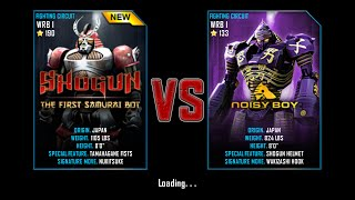 getlinkyoutube.com-Real Steel WRB Championship Shogun VS Noisy Boy NEW ROBOT UPDATE Halloween