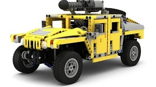 getlinkyoutube.com-Lego Technic Humvee / Hummer H1