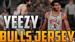 getlinkyoutube.com-NBA 2K16 Chicago Bulls Adidas Yeezy 350 Boost Inspired Home Jersey Tutorial