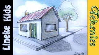 getlinkyoutube.com-Hoe teken je een huis in perspectief / tekenles #33