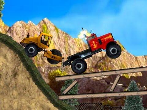 Grandes camiones y vehículos de dibujos animados para niños, Dibujos camiones monstruo