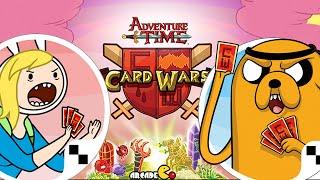 getlinkyoutube.com-Card Wars - Adventure Time Card Game New Update Battle With Join Fionna And Cake Hero cards!