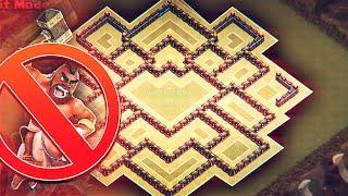 getlinkyoutube.com-Clash of Clans - TH 9 WAR BASE - (THE LOTUS) - NO MORE HOGS!