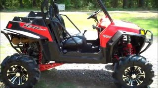 "getlinkyoutube.com-2011 RZR XP with 5"" High Lifter walk around"