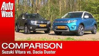 getlinkyoutube.com-Dubbeltest - Suzuki Vitara vs. Dacia Duster