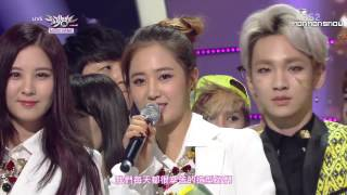 【HD繁中字】140314 少女時代 SNSD - 一位受賞感言 + Encore