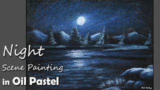 getlinkyoutube.com-How to Paint A Night Scene in Oil Pastel