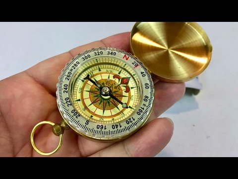 UNKE Vintage Retro Outdoor Camping Hiking Portable Brass Pocket Watch Camping Compass review