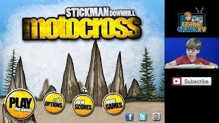 getlinkyoutube.com-Stickman Downhill Motocross - Let's Play Mobile Games!