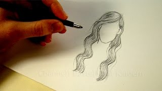 getlinkyoutube.com-Zeichnen lernen: Haare - Frisur zeichnen mit Bleistift - Tutorial - # 2