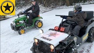 getlinkyoutube.com-CHILDREN JEEP and John Deere TRACTOR for KIDS snow patrol