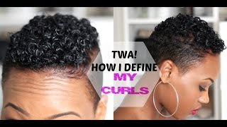 getlinkyoutube.com-How to Define Your CURLS! Tapered TWA|Short Natural Hair| 2015|QueenTeshna