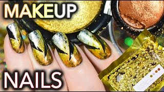 getlinkyoutube.com-Nails using $$$ makeup! Metalmorphosis 005 Kit GOT NAILED