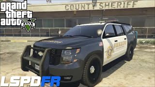 getlinkyoutube.com-GTA 5 LSPDFR Police Mod 26 | Jail Break | Prisoner Transport |Los Angles Sheriff Department Suburban
