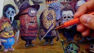 getlinkyoutube.com-If Minions were Horror Movie Villains