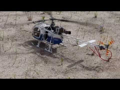 RC SA315B LAMA Cargo Sling Operation