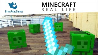 getlinkyoutube.com-Minecraft Real Life - Slime Attack!!! - BrickRealGames