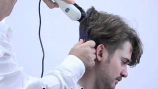 getlinkyoutube.com-How to cut layers with clippers at home, 2013 style short sides long top.