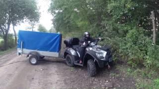 "getlinkyoutube.com-Kymco MXU 700 Testfahrt mit Anhänger von Sohn ""Flo"""
