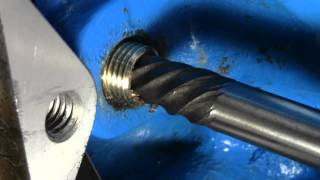 getlinkyoutube.com-How to Use a Screw Extractor | Remove snapped off bolt from engine