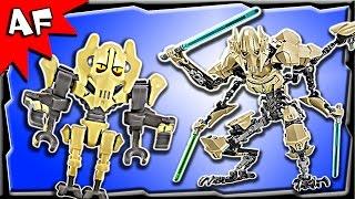 getlinkyoutube.com-Lego Star Wars GENERAL GRIEVOUS Battle Figure 75112 Stop Motion Build Review