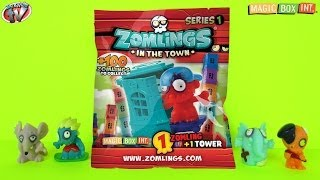 getlinkyoutube.com-Zomlings Series 1 Figures: Tower Blind Bags Toy Review, Magic Box Int