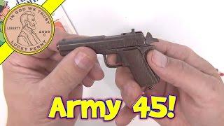 getlinkyoutube.com-Captain Jack Army 45 Cap Pistol - 6 Die Cast Toy Gun Collection