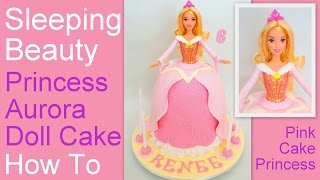 getlinkyoutube.com-How to Make a Princess Aurora Doll Cake - Disney's Sleeping Beauty Cake by Pink Cake Princess