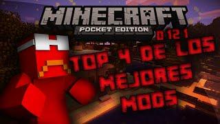 Top 4 Mods Para Minecraft PE 0.15.6 Sin Textura | Minecraft PE mods