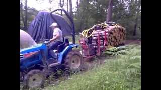 remorque forestiere micro tracteur