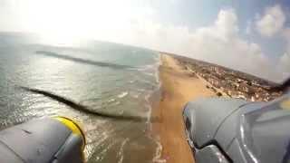 getlinkyoutube.com-P-38 Lightning RC flight onboard camera in Sicily with crash onto the beach