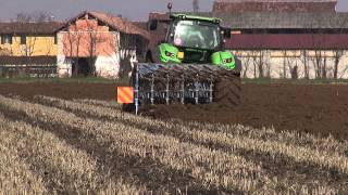 getlinkyoutube.com-Ploughing 2014. Deutz-Fahr Agrotron 7250 TTV + Lemken Juwel 8 Esavomere
