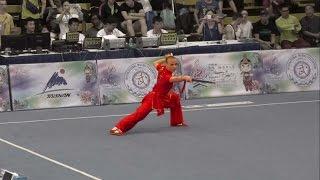 getlinkyoutube.com-13th World Wushu Championships - Women Shuangjian RUS Daria TARASOVA 9.48