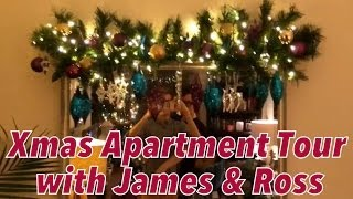 getlinkyoutube.com-Christmas Apartment Tour with James & Ross with Gay Kiss & Crafty Cushions - JAMES VLOG #24 (PART 2)
