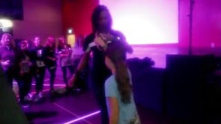 Les Twins - Leuk - Suiss - Laurent dancing with little girl after the show 3 - 12/2015