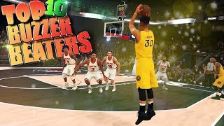 Top 10 Amazing Buzzer Beaters & Comebacks - NBA 2K18 Highlights