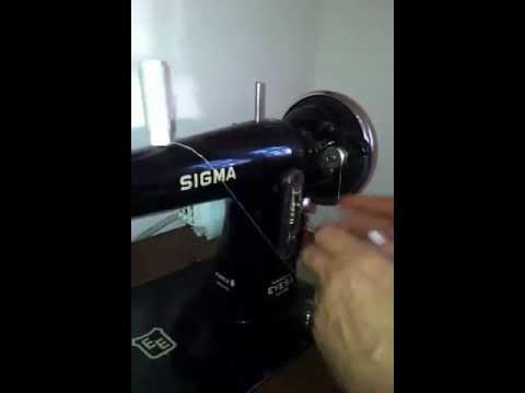 Enhebrar máquina de coser,canilla Sigma modelo B especial eyesa // To thread sewing machine