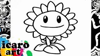 como dibujar el girasol de plants vs zombies | how to draw sunflower