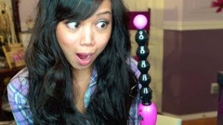 getlinkyoutube.com-First Impression: Revlon Curl Magic - Beachy Waves Hair Tutorial - itsjudytime