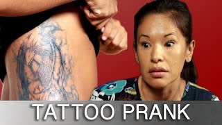 getlinkyoutube.com-Sons Prank Parents With Tattoos