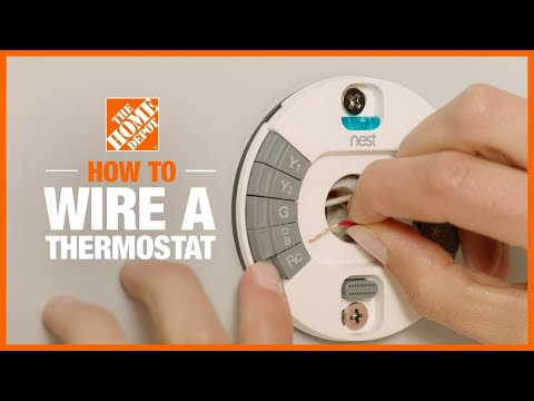 A video instructing how to wire a thermostat.