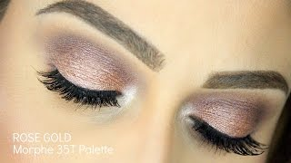 getlinkyoutube.com-Rose Gold Makeup Tutorial | Morphe 35T Palette
