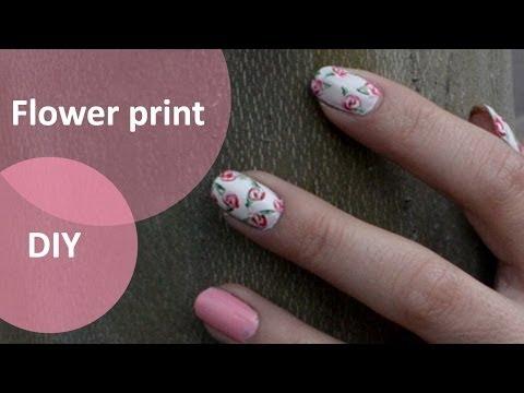 Manichiura - flower print