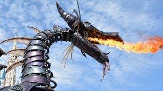 getlinkyoutube.com-Festival of Fantasy Fire Breathing Maleficent Dragon In Sleeping Beauty Segment, Magic Kingdom