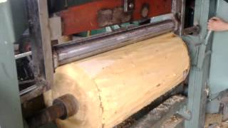 getlinkyoutube.com-Veneer peeling machine with clipper for making timbers for packing boxes plywood Grupbizsv@gmail.com