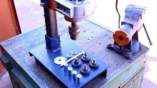 getlinkyoutube.com-Самодельная стойка для дрели своими руками.Часть5.Homemade drill press